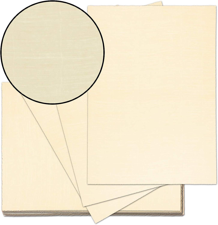 50x echt Bütten-Papier ca. A4 edles Brief-Papier - unregelmäßig wild-gerippt wild-gerippt wild-gerippt - Vintage-Papier handgemacht, Chamois, 115 g m² - von Zerkall Bütten B071HW7YR1   Günstige Preise  0172db