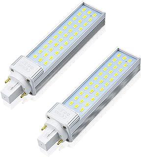 G24 2 Pin LED PL Lamp, Lustaled 13W Rotatable G24D Base LED Bulb 2-Pin G24D-1 G24D-2 G24D-3 26W Warm White CFL Replacement...