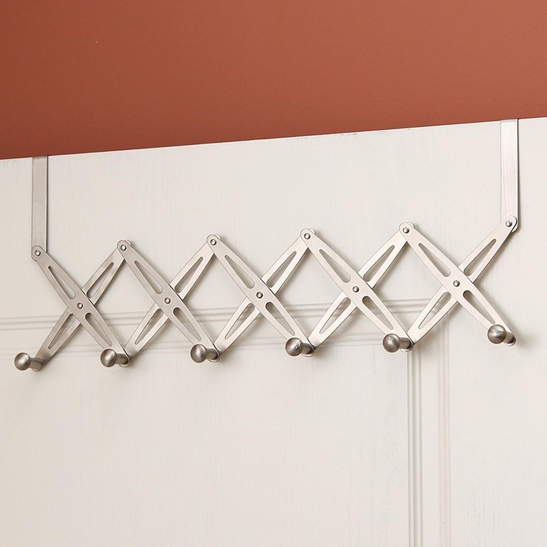 AO-Hook Coat Hook Behind The Door Hook Stainless Steel Nail-Free Traceless Retractable Door Back Hook Door Rack