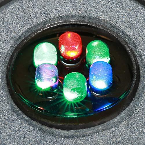 Clausアクアリウムエアストーンミニ気泡ストーン水槽用空気石6LED水槽ライト付き酸素補給水槽装飾観賞魚熱帯魚IP68防水省エネ水槽用ライト日本語説明書