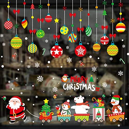 Xnuoyo Pegatinas Navideñas para Ventanas Decoraciones Navid
