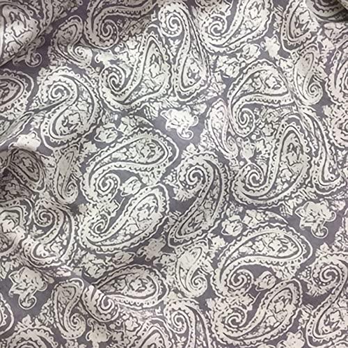 ZXC Tela De Mezclilla 100% Algodón 150 cm De Ancho 1m por Metro Utilizada para Coser Ropa,Jeans Populares,Coser Cojines,Cortinas Y Accesorios para El Hogar(Color:Gris)