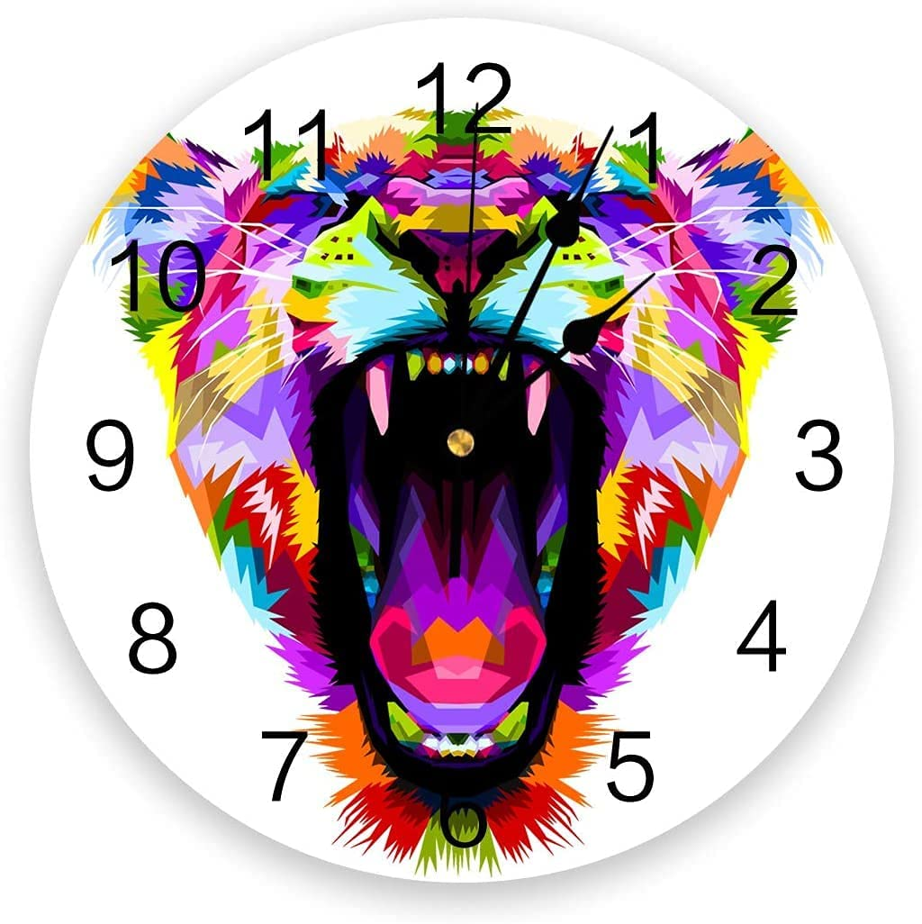 DKISEE Wall Clock Art Clock30cm 11.8in Popular Colorful Save money Multisan4567Wall