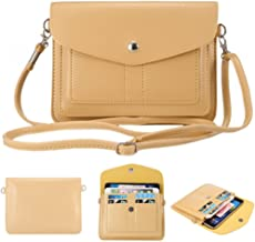 Universal Fashion Soft PU Leather Cell Phone Bag Purse Case Cross Body Wallet Pouch with Shoulder Strap & ID Cards Holders for Carrying iPhone6s/6s plus/6/6 Plus/5s and Samsung Series Phones(Yellow)