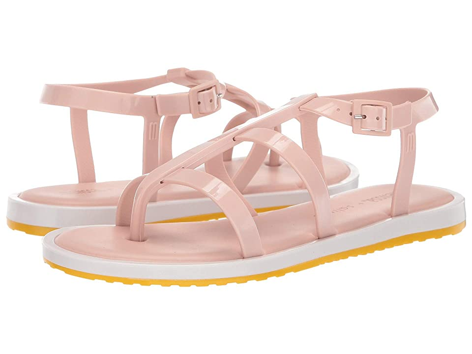 Melissa Shoes Caribe Verao + Salinas (Pink/White/Yellow) Women
