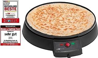 comprar comparacion Clatronic CM 3372 Máquina de hacer crepes, tortitas, tortillas, plato 29 cm antiadherente, termostato regulable, 900 W, Cr...