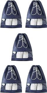 HUI JIN Lot de 5 sacs de rangement pour chaussures de voyage étanches et respirants pour usage quotidien