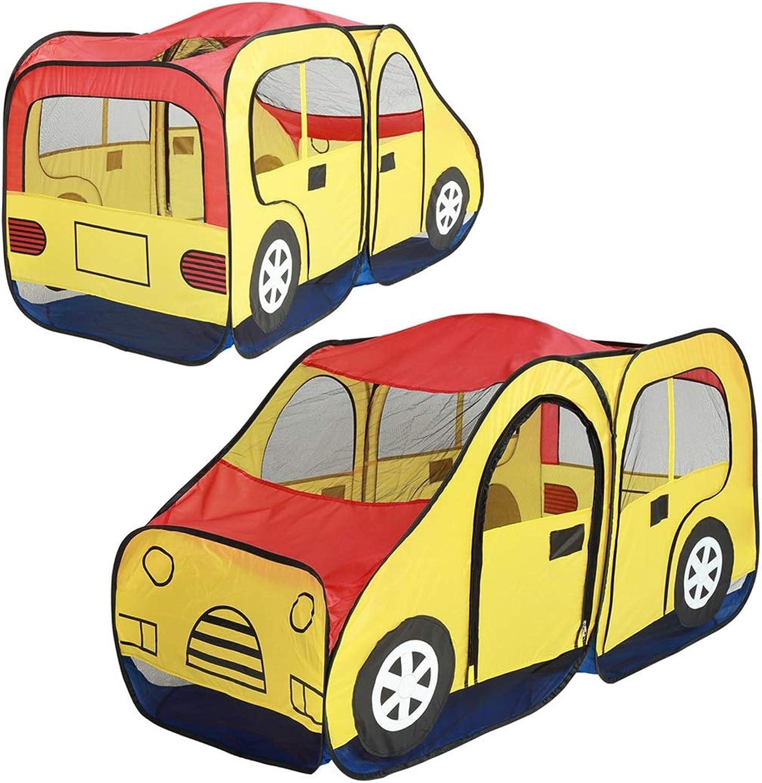 FUBULECY Kreatives Auto Design Kids Play Zelt Faltbare Indoor Spielzeug Spielhaus für Kinder Mdchen (Farbe   Gelb)