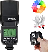 Godox TT685S HSS 1/8000S GN60 TTL Flash Speedlite with X1T-S 2.4G TTL Wireless Flash Trigger, Flash Diffuser Softbox and Flash Color Filters for Sony DSLR Cameras with MI Shoe