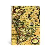 Paperblanks - Frühe Kartografie Westliche Hemisphäre - Notizbuch Midi Liniert (Early Cartography)