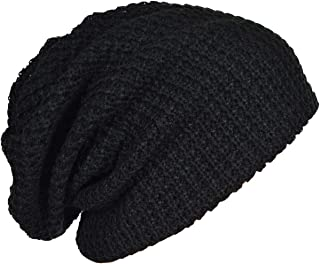 Forbusite Beanie Hat Oversized Long Dread Beanie Hat Caps Men's Summer Winter B08