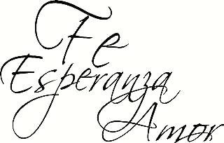 Fe, Esparanza, Amor Pared Arte, 1 Corintios 13, Creation Vinyls