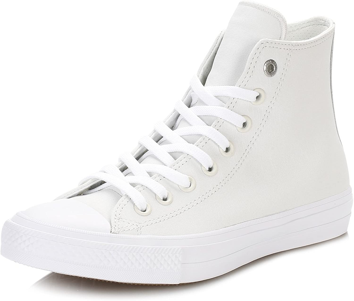 Converse Womens Chuck Taylor All Star II Hi White Leather Trainers 9 US