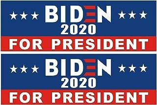 Shmbada 2 PCS Biden 2020 for President America Election Vinyl Stickers Waterproof Decal for Car, Bumper, Motorboat, Laptop, Helmet, 3 x 10 Inch, Set of 2