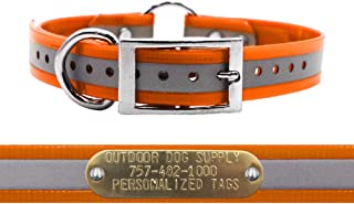 Best dog collars with brass name plates Reviews