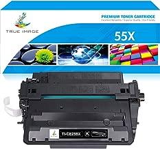 True Image Compatible Toner Cartridge Replacement for HP 55X CE255X CE255A 55A Laserjet P3015dn P3015d P3015n P3015x Enterprise 500 MFP M521dn M521dw M525f M525dn M525c (Black, 1-Pack)