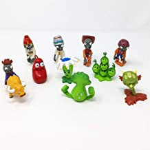 WAREHOUSEDEALS Inspired by Plants vs Zombies PVZ Cake Toppers Cupcake Figures Decorative Birthday Party - Pack 10pcs