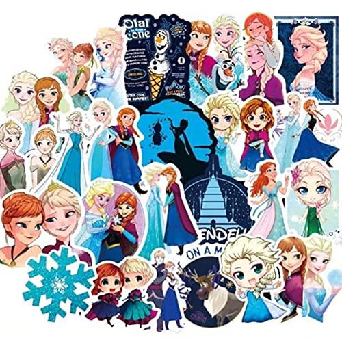 Disney Princess Sticker Frozen Sticker Koelkast Computer Wasmachine Mobiele Telefoon Bureau Decoratie Sticker 100 Stks 50 Stks Tz-23