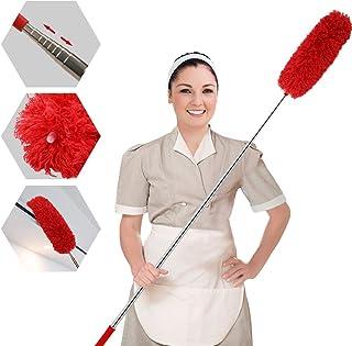 Plumero extensible de microfibra, desmontable y flexible, 100 pulgadas de acero inoxidable con tapa de silicona suave, perfecto para limpiar telarañas, ventilador de techo