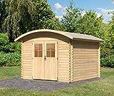 Caseta de jardín Karibu Taha 3 Blockhaus 297 x 297 cm, casa de madera de 28 mm