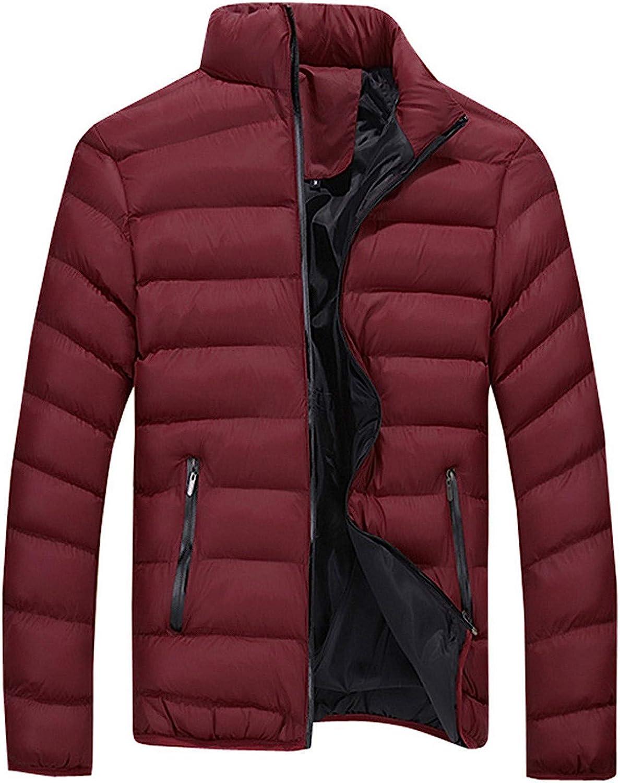 WUAI-Men Hooded Packable Down Jacket Mountain Waterproof Ski Jacket Lightweight Warm Winter Puffer Coat Big and Tall
