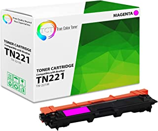 TCT Premium Compatible Toner Cartridge Replacement for Brother TN-221 TN221M Magenta Works with Brother HL-3140 3150 3152 3170, MFC-9130 9140 9330 9340, DCP-9020 Printers (1,400 Pages)