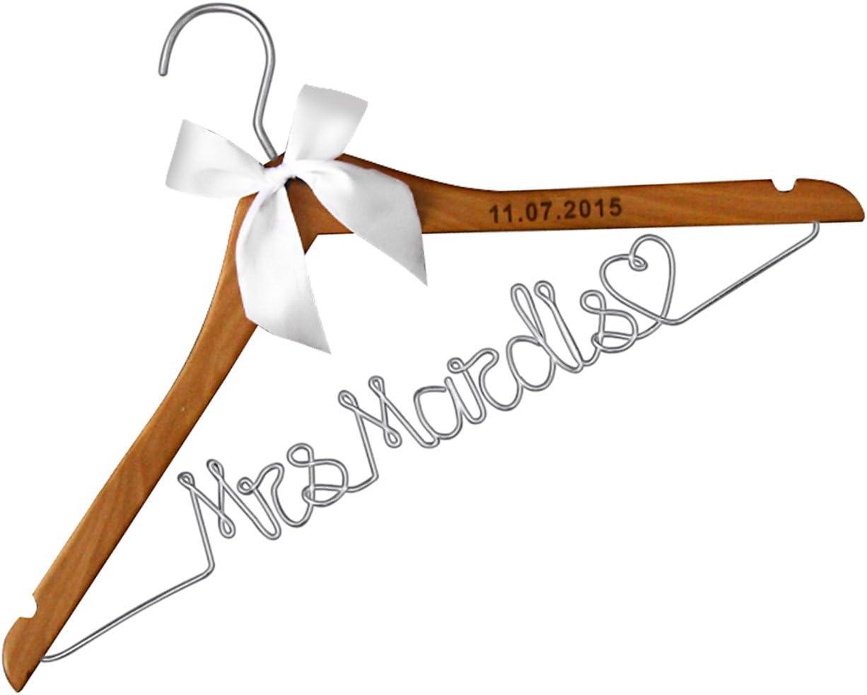 Bride Hanger Wedding Dress Hanger Personalized Custom Hanger