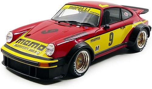 Minichamps 155776409 fürzeug Miniatur Porsche 934 6H-Silberstone 1977 Echelle 1 18, rot gelb