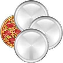 Pizza Baking Pan Pizza Tray - Deedro 12 inch Stainless Steel Pizza Pan Round Pizza Baking Sheet Oven Tray, Nonstick & Healthy Bakeware for Oven Baking, 4 Pack