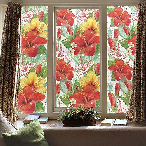 LJIEI Fensterfolie Elektrostatische Schattierungspaste mattierte Adsorption Flammpunkt Glaspaste PVC dekorative Folie undurchsichtig