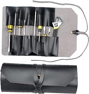 Torba na narzędzia skórzana torba woreczek 10 kieszeni wielofunkcyjny organizer do owijania do obróbki drewna szczypce klu...