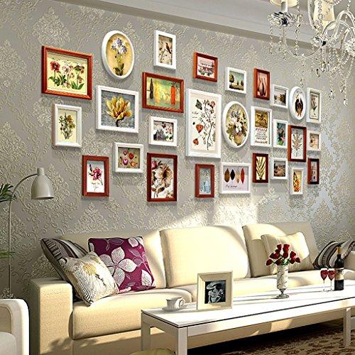 Cadre décoratif Mur de cadre de photo de salon, combinaison créatrice de cadre de photo de mur 28 PCs / ensembles de cadre de photo de collage Set, cadres d'image de cru, cadres de cadre de famille de famille cadres de cadre de photo de BRICOLAGE ( Couleur : C , taille : 28frames/280*105CM )