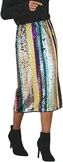 multicolor sequin skirt