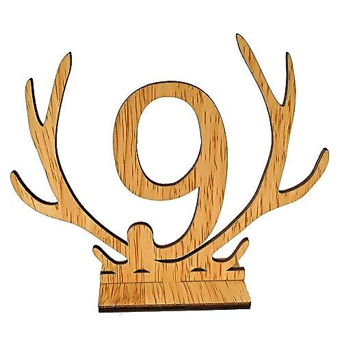 Scoolr Números de mesa, 1 a 20 números de mesa de madera para boda,
