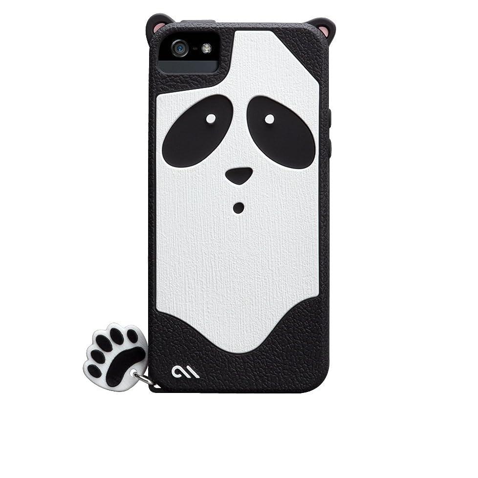 タクト起業家プラスチックCase-Mate 日本正規品 iPhoneSE / 5s / 5 CREATURES: Xing Panda Case, Black クリーチャーズ: パンダ 星星 (シンシン) シリコン ケース CM022448