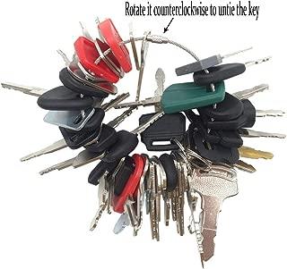 45 Keys Construction Ignition Key Set Heavy Equipment Keys for John Deere Bobcat New Holland Komatsu