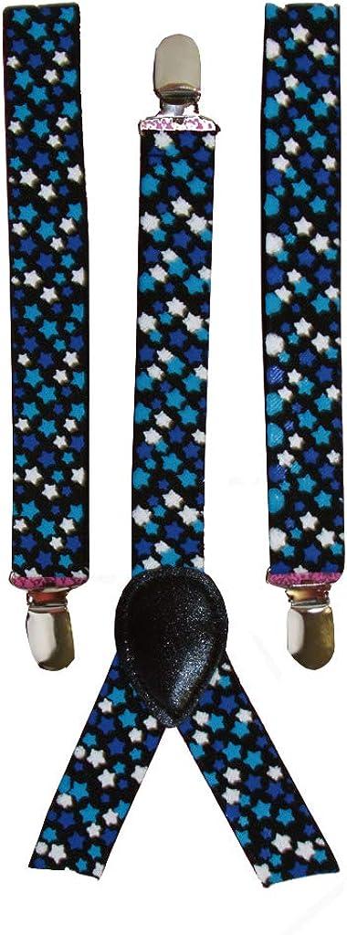 Suspenders Adjustable- Twilight Galaxy Blue Stars