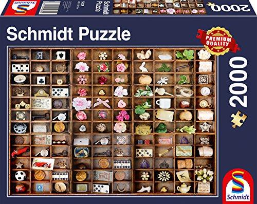 Schmidt Spiele Puzzle 58326 Schätze im Setzkasten, Puzzle, 2000 Teile