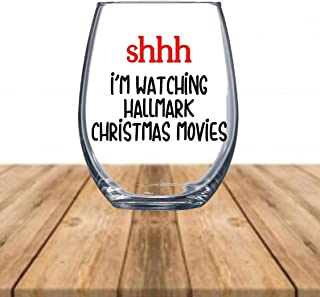 hallmark christmas movies wine glass