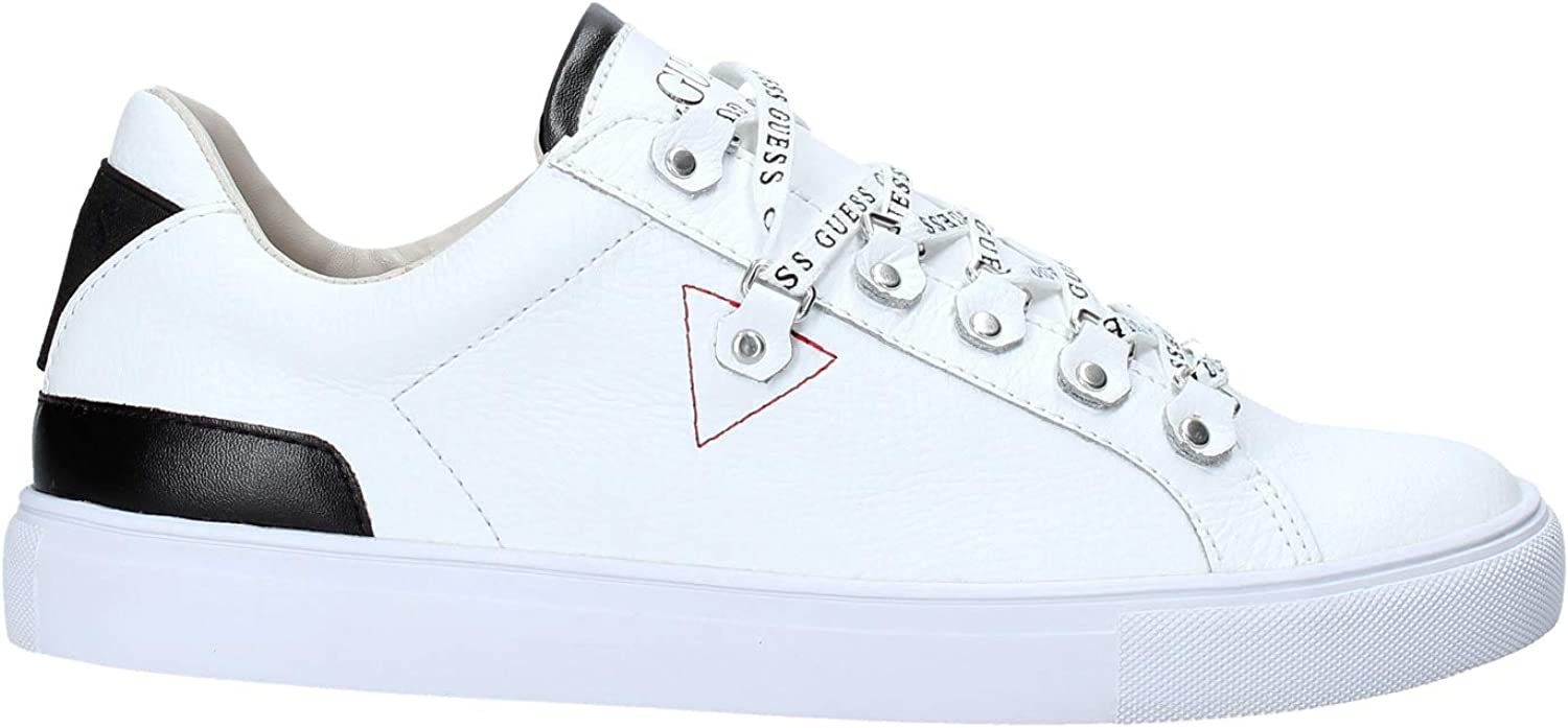 Guess Barry Black Leather Trainers FM5BARLEA12