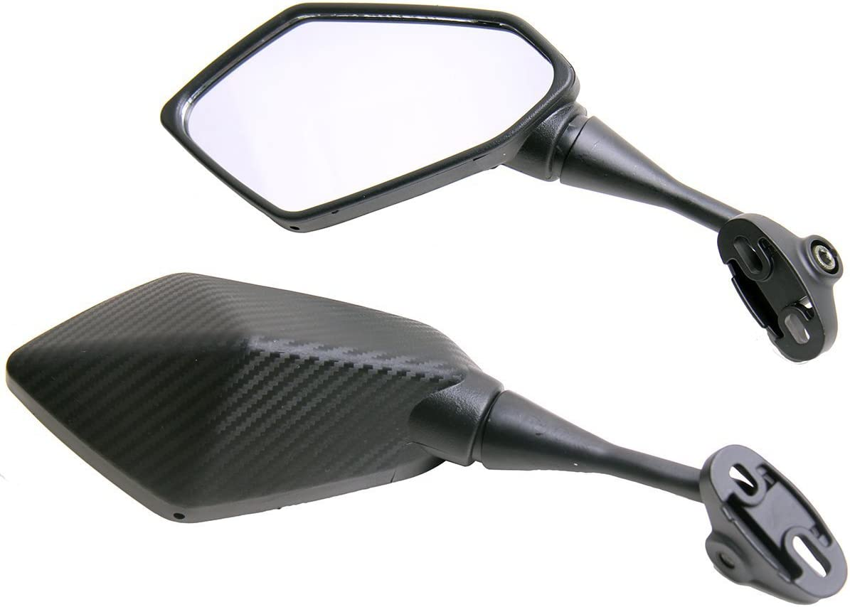 One Pair Sale SALE% OFF Carbon Dallas Mall Fiber look Sport 2013 Mirrors Bike Kawasaki for