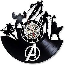 Envío deVinilo Reloj de Pared Marvel Guerra Civil Hecho a Mano Lase Corte Reloj de Pared