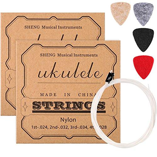 2 Set di Nylon Corde per Ukulele con 4 Plettro di...