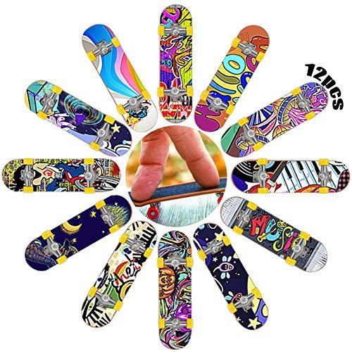 Finger Skateboard 12 Pezzi Dita Bmx Skateboard Fingerboard Tastiera Per Camion Skateboard Con Tastiera Colorato Skate Park Camion Del Ponte Per La Decorazione Del Regalo Di Compleanno Dei Ragazzi