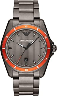 Emporio Armani Men's Three-Hand Date Black-Tone Stainless Steel Watch AR11178