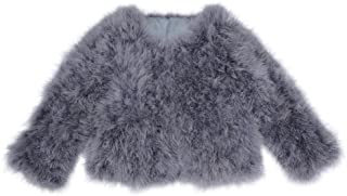 New Real Feather Coat Ostrich Fur Jacket Women