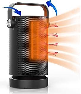Orthland Calefactor Portátil Eléctrico, PTC Espacio Calefacción de Cerámica 1000W 70° Oscilación, 3 Modos, Ventilador mit ...