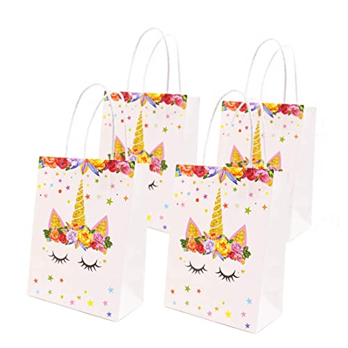 Unicorn Party Favor Bags Themed Birthday Gift Goodie Treat For Kids