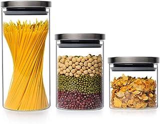 Ensemble de bocaux de Cuisine, couvercles de Rangement avec Couvercle hermétique, récipients de Conservation des Aliments,...