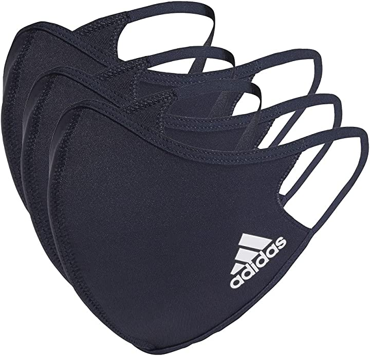 mascherine adidas badge of sport athletic face cover 3-pack size large hf7046